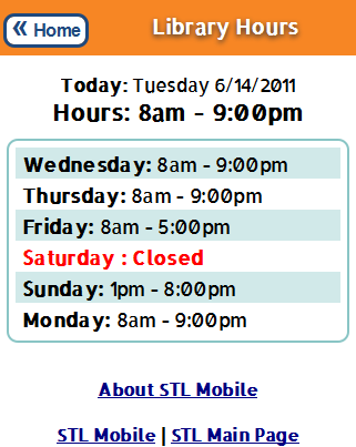 library hours page